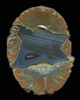 Thunderegg (Agate in Rhyolite), Richardson Ranch, Madras, Jefferson Co., Oregon