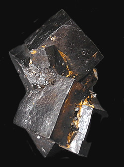 Goethite ps Pyrite, Pelican Point, Utah Lake, Utah County, Utah, USA