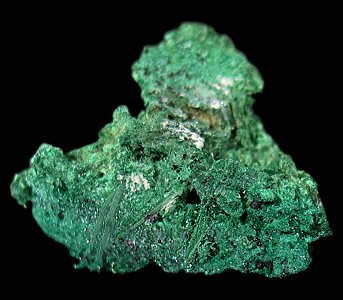 Malachite ps Barite, Kambove Mine, Shaba Cu belt, Shaba, Congo