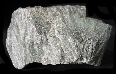 Talc ps Antigorite fans, Luzenac Mine, St-Pierre de Broughton, Beauce Co., Quebec, Canada